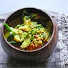Auberginen-Bohnen-Curry