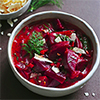 Rote-Bete-Kokos-Curry mit Dill