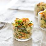 Linsen-Gemüse-Salat mit Cashews