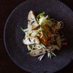 Rettich-Mango-Salat mit Kräuterseitlingen